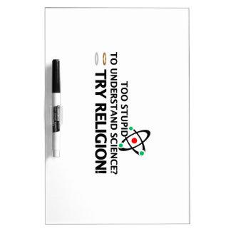 Funny Science VS Religion Dry-Erase Boards