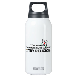 Funny Science VS Religion Insulated Water Bottle