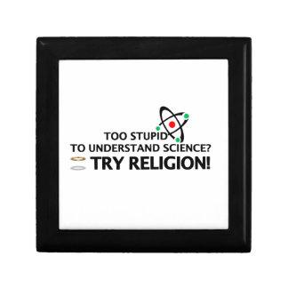Funny Science VS Religion Small Square Gift Box