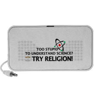 Funny Science VS Religion iPod Speakers