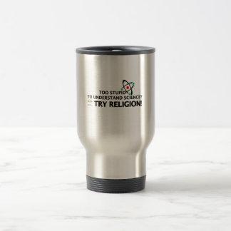Funny Science VS Religion Stainless Steel Travel Mug