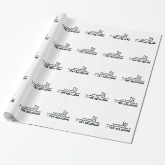 Funny Science VS Religion Gift Wrapping Paper
