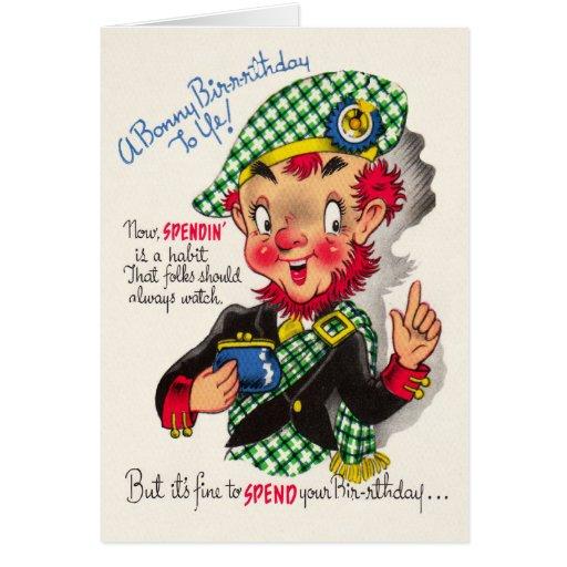 Funny Scottish Birthday Card