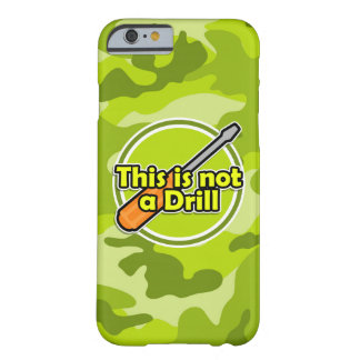 Funny Screwdriver; bright green camo, camouflage Barely There iPhone 6 Case