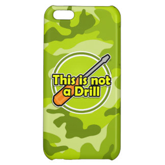Funny Screwdriver; bright green camo, camouflage iPhone 5C Case