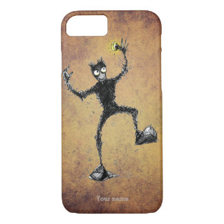 Funny Scribbly Robot Dude iPhone 7 Case