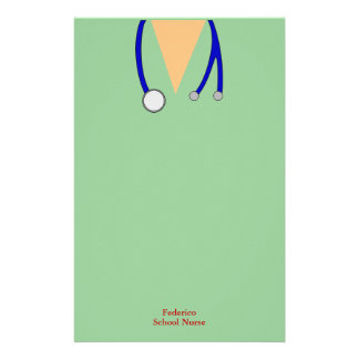 Funny Scrubs Nurses Whimsical Design Stationery Design