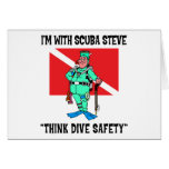 Funny SCUBA Steve Greeting Cards