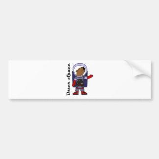 Funny Sea Otter Astronaut in Space Suit Cartoon Bumper Sticker