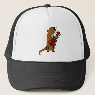 Funny Sea Otter Playing Guitar Trucker Hat
