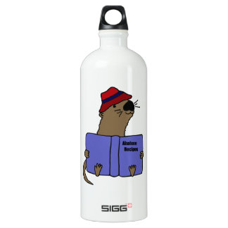 Funny Sea otter Reading Abalone Recipe Book SIGG Traveller 1.0L Water Bottle