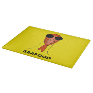 Funny seafood shrimp cutting board