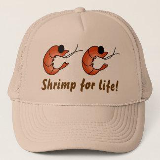 Funny seafood shrimp trucker hat