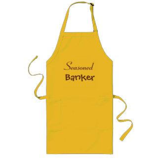 Funny Seasoned Banker Retirement Gift Idea Long Apron