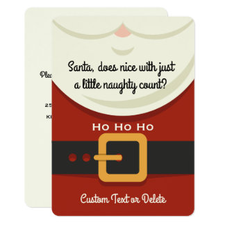 Funny Secret Santa Christmas Gift Exchange Party Card