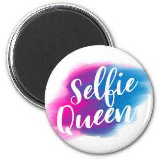Funny Selfie queen 6 Cm Round Magnet