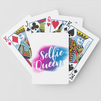 Funny Selfie queen Poker Deck