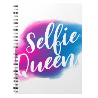 Funny Selfie queen Spiral Notebooks