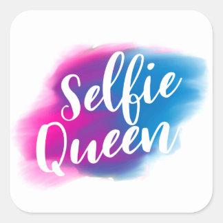 Funny Selfie queen Square Sticker