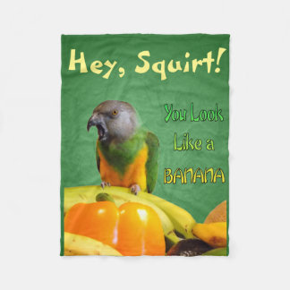 Funny Senegal Parrot Fleece Blanket