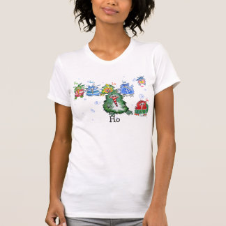 Funny Seven Christmas Cartoon Kiwi Birds T Shirt