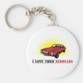 Funny Seventies Muscle Car Basic Round Button Key Ring