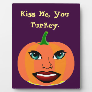 Funny Sexy Pumpkin Plaque