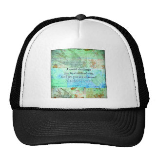 Funny Shakespeare insult quotation Elizabethan art Cap