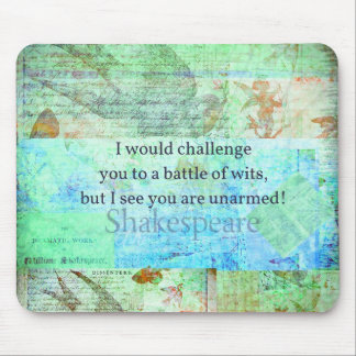 Funny Shakespeare insult quotation Elizabethan art Mouse Pad