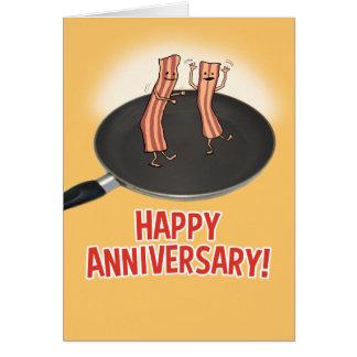 Funny Shakin' My Bacon Anniversary Card