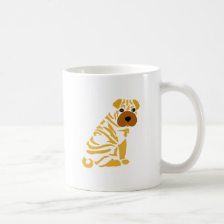 Funny Shar Pei Puppy Dog Abstract Art Coffee Mug
