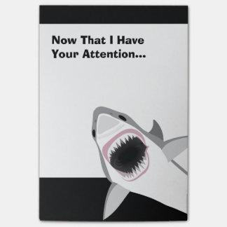 Funny Shark Attack Post-it Notes
