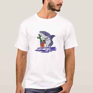 Funny Shark Drinking Bloody Mary T-Shirt