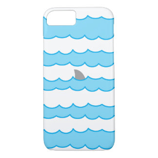 Funny Shark Fin on Water Illustration iPhone 7 Case
