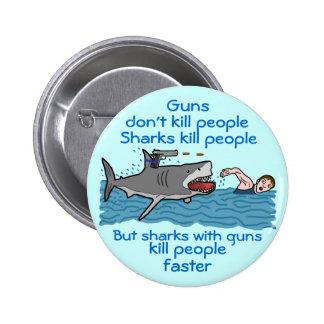 Funny Shark Gun Control Buttons