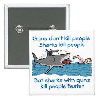 Funny Shark Gun Control Button