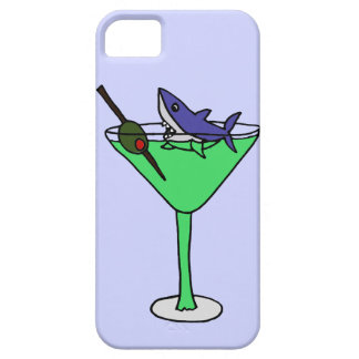 Funny Shark in Green Martini Glass Barely There iPhone 5 Case
