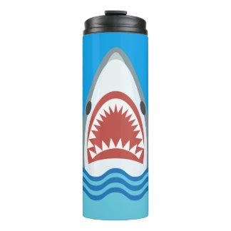 Funny Shark Jaws Cartoon Thermal Tumbler