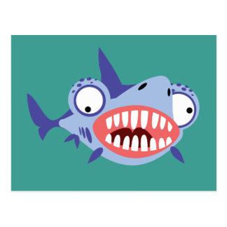 Funny Shark Postcard