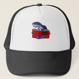 Funny Shark Reading Popular Beaches Book Trucker Hat