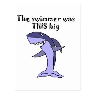 Funny Shark Telling Fish Story Postcard
