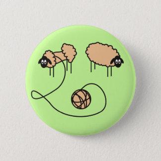 Funny Sheep Button