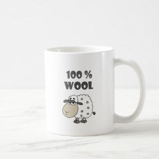Funny Sheep Cartoon is 100 Percent Wool Coffee Mug