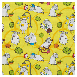 Funny sheep fabric