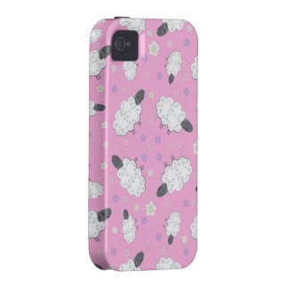 Funny Sheep on Pink iPhone 4/4s Vibe Case Case-Mate iPhone 4 Cases