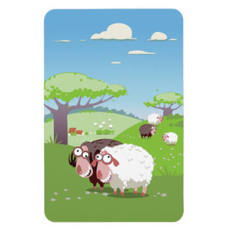Funny Sheep Rectangle Magnet