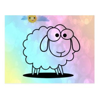 funny sheep,soft postcard