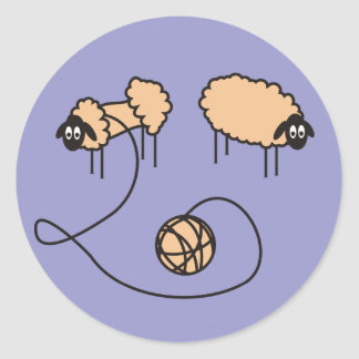 Funny Sheep Template Stickers