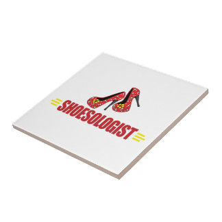 Funny Shoes Small Square Tile