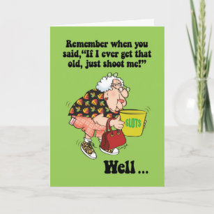 Old Lady Funny Birthday Cards